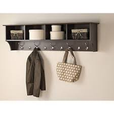 Wall Mounted Hat Rack Coat Hooks Entryway Shelf Organizer Rack Wall Mounted Hat Hanger Hanging Coat 6