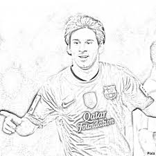 Coloring Pages Soccer Messi Coloring Page