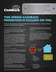 this spring cashback promotion is focused on you its time to reward you for your