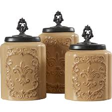 Designer Kitchen Canister Sets Design Guild 3 Piece Kitchen Canister Set Reviews Wayfair