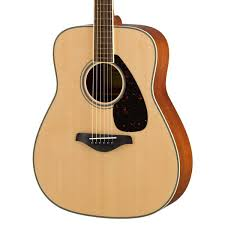 yamaha acoustic guitar. yamaha fg820 acoustic guitar - natural body