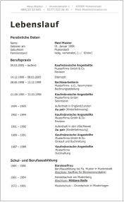 Perfekter Tabellarischer Lebenslauf Detaillierte Anleitung