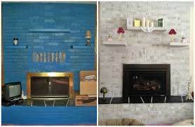 painted over a blue fireplace with brick anew