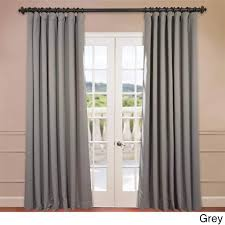 Exclusive Fabrics Extra Wide Thermal Blackout 96-inch Curtain Panel - Free  Shipping Today - Overstock.com - 16476104