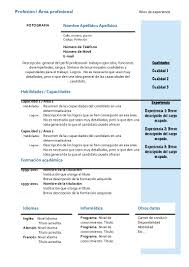 Modelo De Curriculum Vitae Europeo Doc Modelo De Curriculum Vitae
