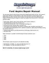 ford aspire repair manual