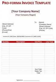 Pro Forma Example How To Create A Pro Forma Invoice Quora