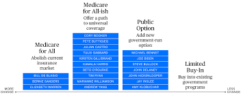 Medicare Low Income Subsidy Chart 2020 Democratic Partys 2020 Health Care Battle Visualized