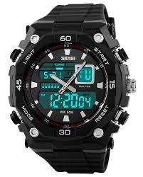buy skmei imported trendy casual analog digital pu quartz 5 atm buy skmei imported trendy casual analog digital pu quartz 5 atm mens watch online