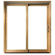 pella sliding door blinds in x in clear glass left hand white wood sliding door