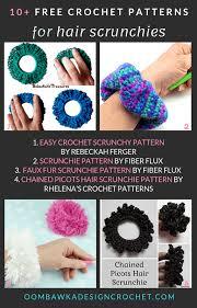 free crochet scrunchie patterns