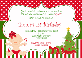 Christmas Birthday Party Invitations First Birthday Christmas Party Invitation Christmas Etsy