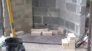 rumford outdoor fireplace layout of firebox