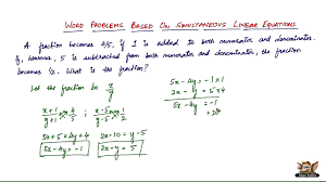 how to solve word problems based on simultaneous linear equations vol 4 7 you