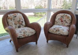 Pottery Barn Wicker Chairs With Cushions Good Condition Rasmus  Auctioneers Pottery Barn Rattan Chair95