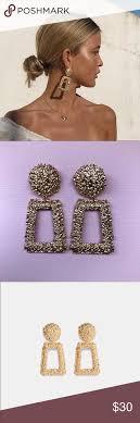 Zara Golden Raised Design Earrings Zara Gold Raised Design Earrings Zara Gold Raised Design