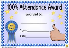Attendance Award Template 100 Attendance Award Certificate Template Download