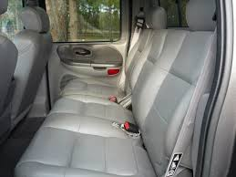 01 03 ford f150 supercrew crew cab truck 60 40 split bench rear adjule headrests no armrest seat covers