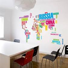color art office interiors. Cheap Sticker Plastic, Buy Quality Stickers Elmo Directly From China Decals Furniture Suppliers: Modern Style World Map Letter Color Wall Creative Art Office Interiors