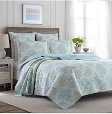 laura ashley king r blue quilt