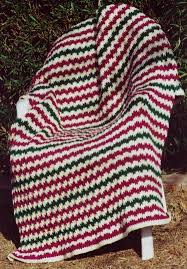 Knitted Afghan Patterns Classy Free Pattern For Easy Flame Stitch Knit Afghan