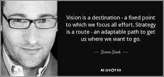 Quotes About Vision Magnificent Simon Sinek Quote Vision Is A Destination A Fixed Point To Which