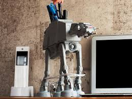 1 72 scale star wars at at multi function desk organizer with snow sder exclusive