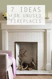 7 Awesome Ideas for an Unused Fireplace