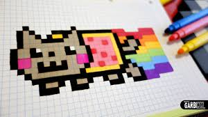 Handmade Pixel Art How To Draw A Nyan Cat Pixelart Game