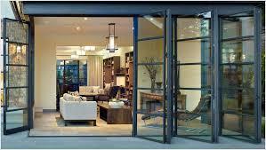 folding glass doors exterior exterior folding glass patio doors add more light to your house interior