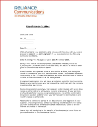 Samples Of Appointment Letter For An Employee Appointment Letter Template Malaysia Refrence Dreaded Sample Format