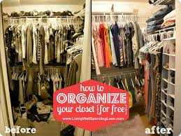 how to organize your closet for free before and after photos