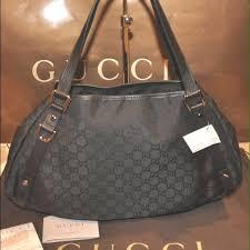 black gucci bags. gucci abbey d ring black gg monogram hobo tote bag gucci bags