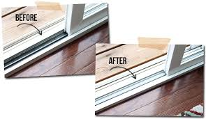 13 before and after pics of the tracks in our sliding glass door after using mr