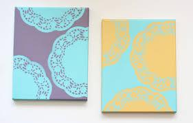 diy canvas art with spray paint doily doilies 15