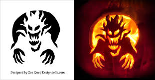 Pumpkin Carving Patterns Magnificent Free Halloween Scary Pumpkin Carving Stencils Patterns Templates