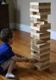 Game Played With Wooden Blocks 100 Apart How to Build A DIY Giant Jenga Stacking Game 3