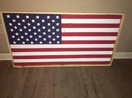 wooden american flag classic