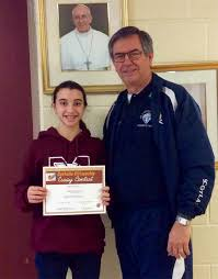 students win top honours in knights of columbus essay writing contest grade 8 winner from st margaret mary emma martino photo by sir knight