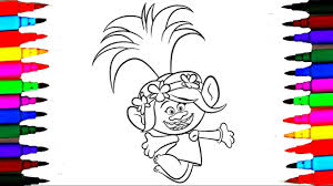 Coloring Pages Dreamworks Trolls L Poppy Drawing Pages To Color