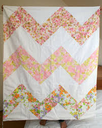 29 best Quilt images on Pinterest | Jellyroll quilts, Craft and ... & Chevron Striped Quilt, Pink Vintage Sheets, 3ft. X 4 ft.. $98.00 Adamdwight.com
