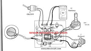acoustic guitar pickup circuit using tl071 eleccircuit com pcb layout of acoustic guitar pickup