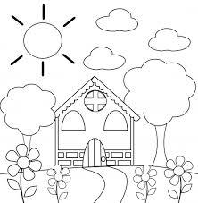 Preschool Coloring Page House Kidspressmagazinecom
