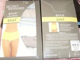 New Secret Treasures Womens Briefs 6 Pair Panty Light Colors Seamless L 7 Xl 8 Ebay