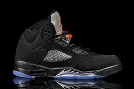 jordan 5 black. last released back in 2011, but this time with \u201cnike air\u201d branding. jordan 5 black