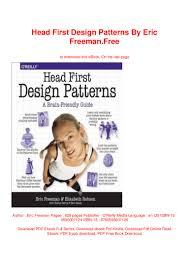 Head First Design Patterns Ebook Free Head First Design Patterns By Eric Freeman Free