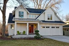 white house with black garage door light gray houses grey siding house medium size color scheme