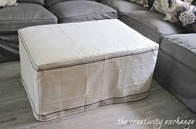 Ottoman Dazzling Ottoman Slipcover Slipcovers Covers Round