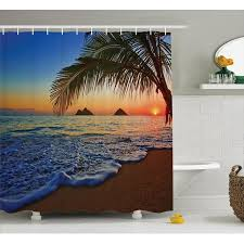 hawaiian shower curtain and accessories the tropical shades of hawaiian shower curtain lizandett com ideal home