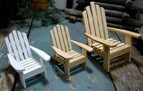wooden miniature beach chairs